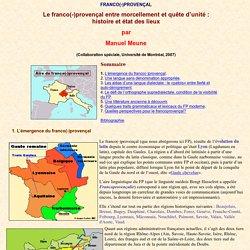 Le franco-provençal: texte de Manuel Meune