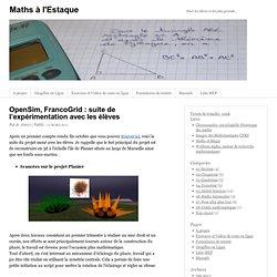 OpenSim, FrancoGrid : suite de l'expérimentation avec les élèves