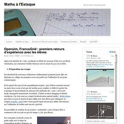 Opensim, FrancoGrid : premiers retours d'expérience avec les élèves