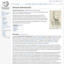 François Antommarchi médecin wikipedia