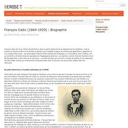François Cadic (1864-1929) [Lahic-Berose]