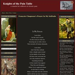 François Chagneau's Prayer In My Solitude — Knights of the Pain Table
