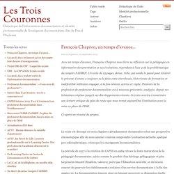 François Chapron, un temps d'avance...