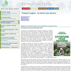 François Couplan - La nature nous sauvera