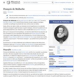 François de Malherbe 1555-1628