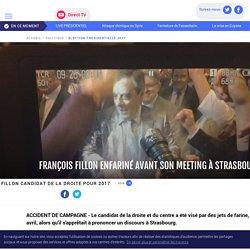 François Fillon enfariné avant son meeting à Strasbourg - LCI