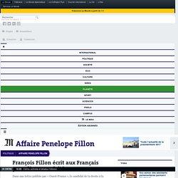 François Fillon écrit aux Français pour dire «sa vérité»
