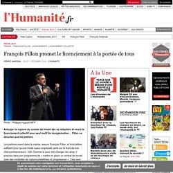 François Fillon promet le licenciement à la portée de tous