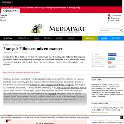 François Fillon est mis en examen