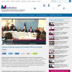 François Hollande inaugure la Fondation FISO aux Grands Voisins