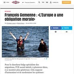 François Gemenne: «L'Europe a une obligation morale»