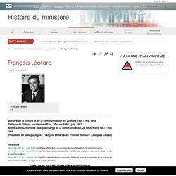 François Léotard - Histoire du ministère