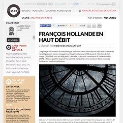 François Hollande en haut débit