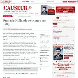 François Hollande se trompe sur 1789