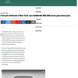 François Hollande à New York: une facture de 900.000 euros pour deux jours