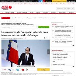 Les mesures de François Hollande pour inverser la courbe du chômage