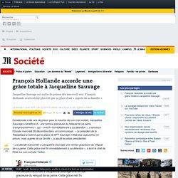 François Hollande accorde une grâce totale à Jacqueline Sauvage