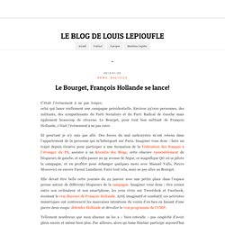 Le Bourget, François Hollande se lance!