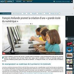 François Hollande promet la création d'une « grande école du numérique »