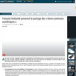 François Hollande promeut le partage des « biens communs numériques »