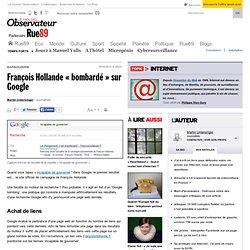 François Hollande «bombardé» sur Google
