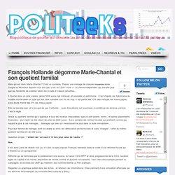 François Hollande dégomme Marie-Chantal et son quotient familial