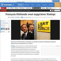 Politique : François Hollande veut supprimer Hadopi