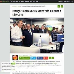 François Hollande en visite très surprise à l'école 42 !