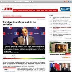 """Jean-François Copé estime que l'immigration a un coût """"élevé"""" mais oublie de dire combien elle rapporte"""