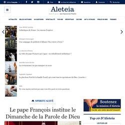 Le pape François institue le Dimanche de la Parole de Dieu