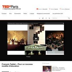 François Taddei – Pour un nouveau modèle d'éducation