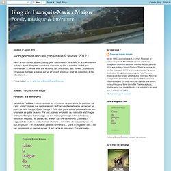 Mon premier recueil paraîtra le 9 février 2012 !