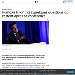 François Fillon : ces quelques questions qui restent après sa conférence