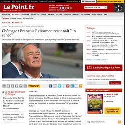 """30/08 Chômage : François Rebsamen reconnaît """"un échec"""""""