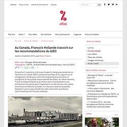 Au Canada, François Hollande s'assoit sur les recommandations du GIEC