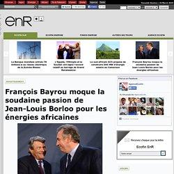 François Bayrou moque la soudaine passion de Jean-Louis Borloo pour les énergies africaines