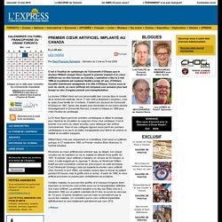 Paul-François Sylvestre - Premier cœur artificiel implanté au Canada - L'Express de Toronto