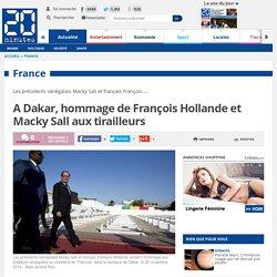 A Dakar, hommage de François Hollande et Macky Sall aux tirailleurs