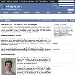 Nicolas François : Une webradio pour l'histoire-géo