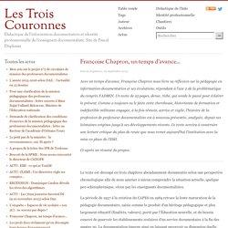 Françoise Chapron, un temps d'avance...