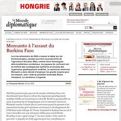 Monsanto à l'assaut du Burkina Faso, par Françoise Gérard