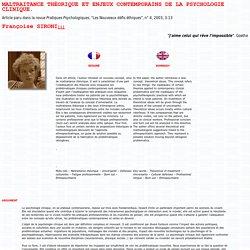 Françoise Sironi : maltraitance théorique
