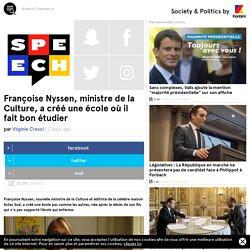 Françoise Nyssen, ministre de la Culture, a créé une école où il fait bon étudier - Speech