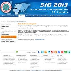 Code Sprint et Cartopartie - SIG 2013 - Le site de la Conférence Francophone Esri