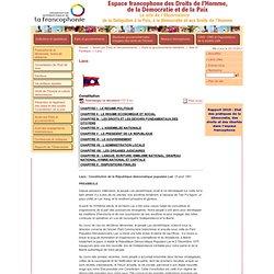 Espace francophone des Droits de l'Homme, de la Démocratie et de la Paix - Constitution