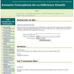 Annuaire Francophone De La Déficience Visuelle