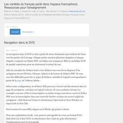 Les variétés du français parlé dans l'espace francophone. Ressources pour l'enseignement