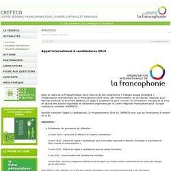Centre régional francophone pour l'Europe centrale et orientale (CREFECO). Un outil pour l'enseignement du français langue étrangère
