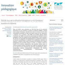 État des lieux de la recherche francophone sur les formations ouvertes et à distance