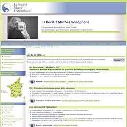 Société Marcé Francophone - DU / Formations / Ressources